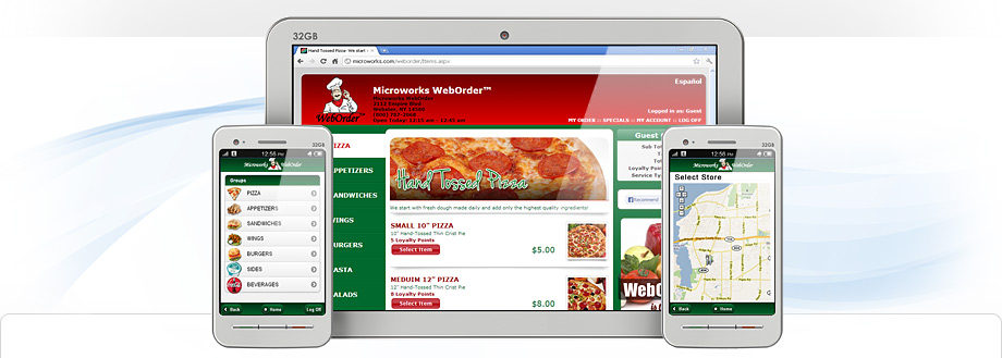 Mobile Web Order Software